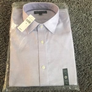 NWT Standard-Fit Non-Iron Purple Shirt